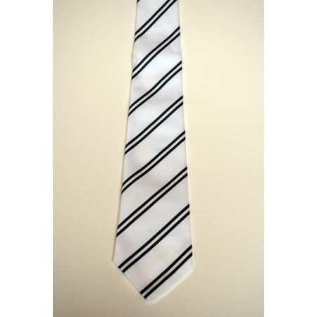 Queens' College Summer Striped Tie.