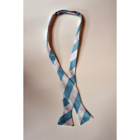 Half Blue  Bow Tie.