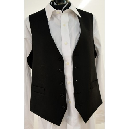 Morning Suit Black Waistcoat