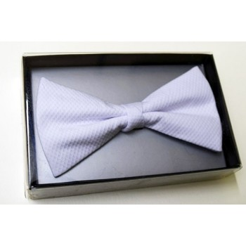 White ready made bow tie