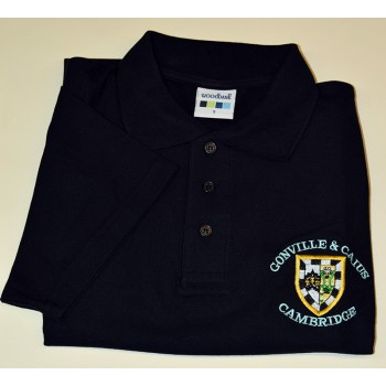 Gonville and Caius College Polo Shirt Black