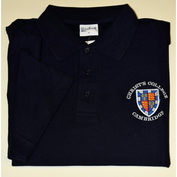 Christ's College Polo Shirt Navy