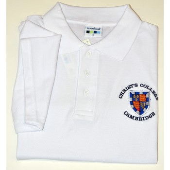 Christ's College Polo Shirt White