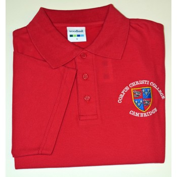 Corpus Christi College Polo Shirt Red