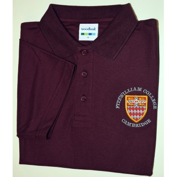 Fitzwilliam College Polo Shirt Maroon