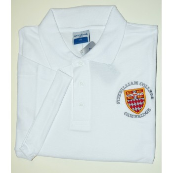 Fitzwilliam College Polo Shirt White
