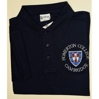 Homerton College Polo Shirt Navy