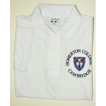 Homerton College Polo Shirt White