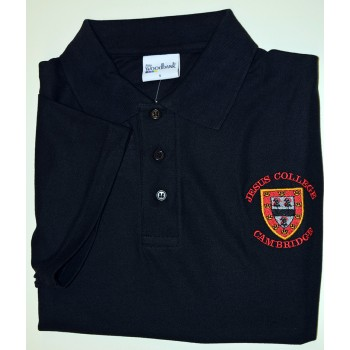 Jesus College Polo Shirt Black