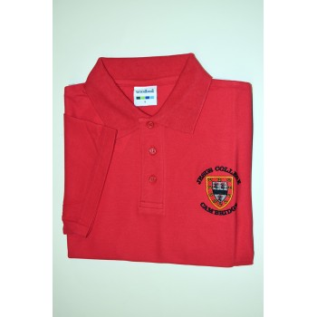 Jesus College Polo Shirt Red