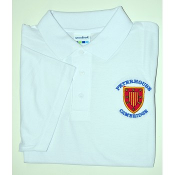 Peterhouse White Polo Shirt