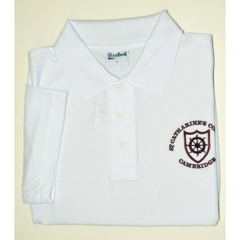 St Catharine's College White Polo Shirt
