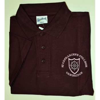 St Catharine's College Maroon Polo Shirt