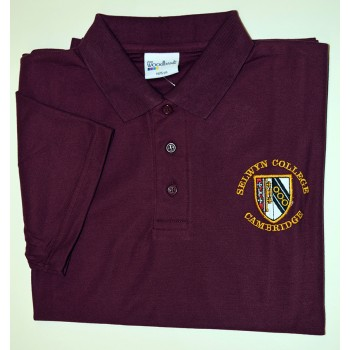 Selwyn College Maroon Polo Shirt