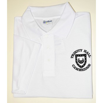 Trinity Hall White Polo Shirt